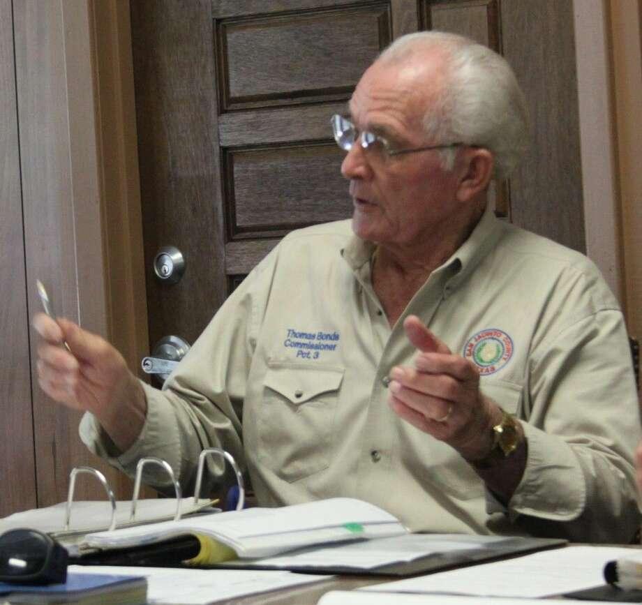 Pct. 3 Commissioner Thomas Bonds addresses that the San Jacinto County Commissioners Court has helped the San Jacinto County Fair Association in the past. Photo: Jacob McAdams