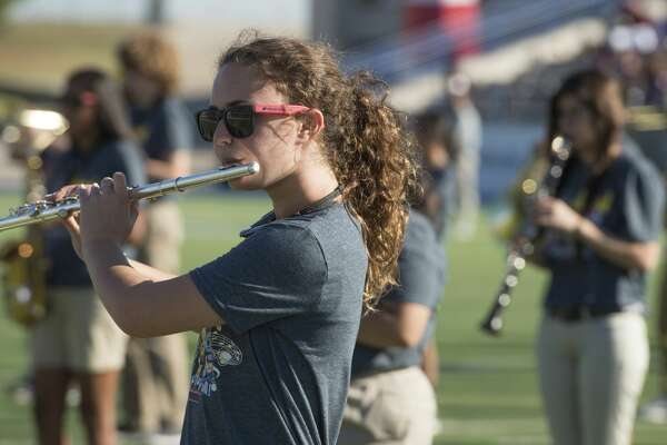 Goddard Junior High band performs Wednesday 10-05-16 at Grande Communication Stadium for area sixth grade students to try to encourage them to join band next year as they enter junior high. Tim Fischer/Reporter-Telegram