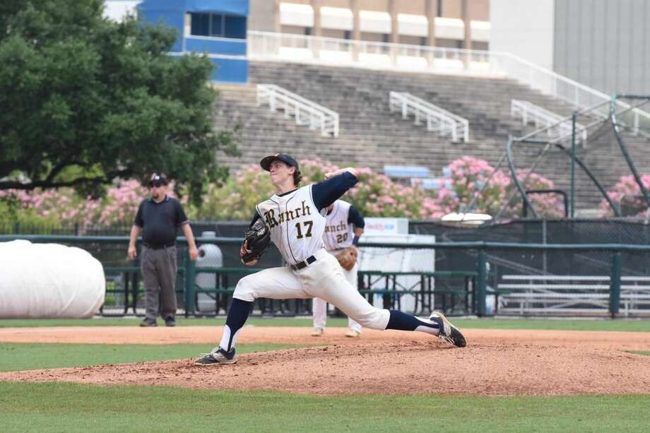 Tyler Bielamowicz and Cy Ranch pushed through a long weather delay and two Seven Lakes rallies to win their Region III-6A area playoff series May 13-14. The Mustangs face Langham Creek in the regional quarterfinals. Photo: HCN File Photo