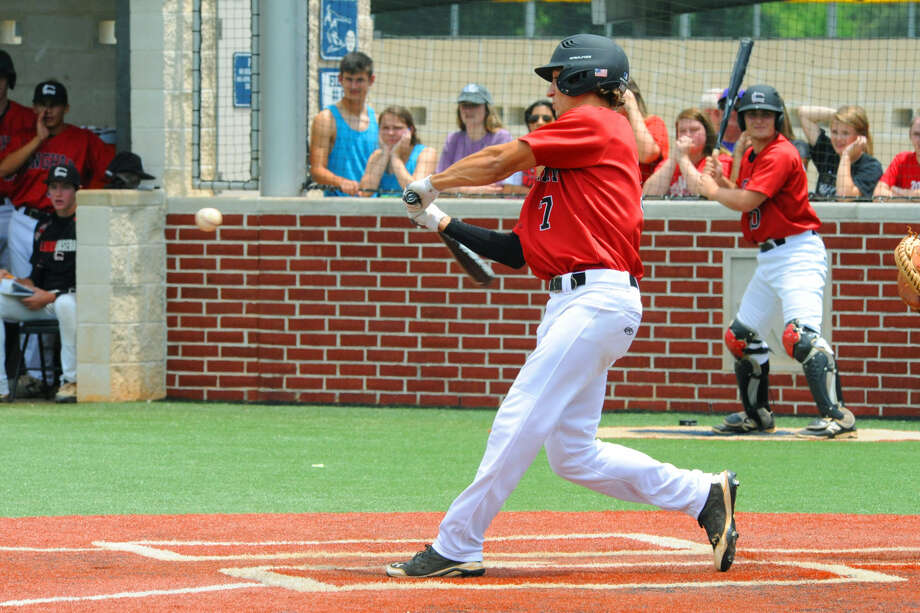 Langham Creek designated hitter takes a cut in the regional quarterfinals matchup against district rival Cypress Ranch. Sweet was 3-for-4 on the day with three RBIs and played a pivotal role in securing the 8-6 win for the Lobos. Photo: Tony Gaines