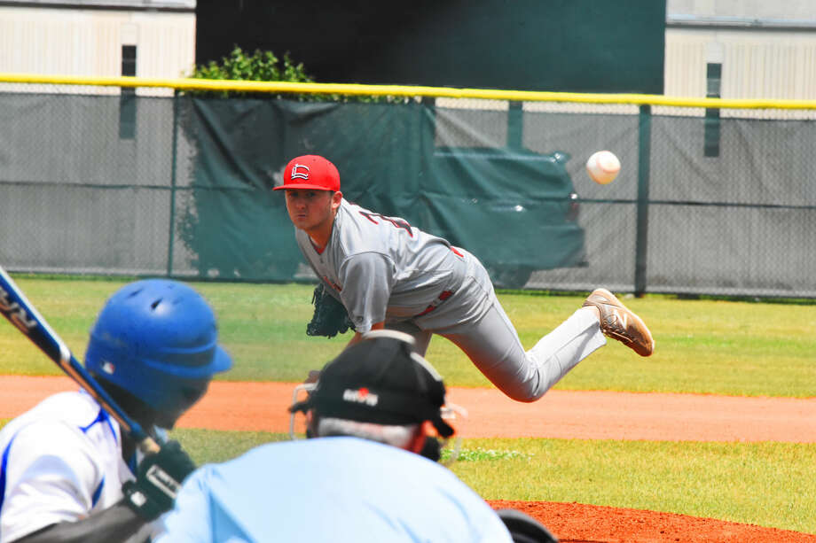 Langham Creek pitcher Brennan Bowles threw a terrific game Saturday against Houston Westside, holding the Wolves to one earned run in seven and a third innings.  Photo: Tony Gaines