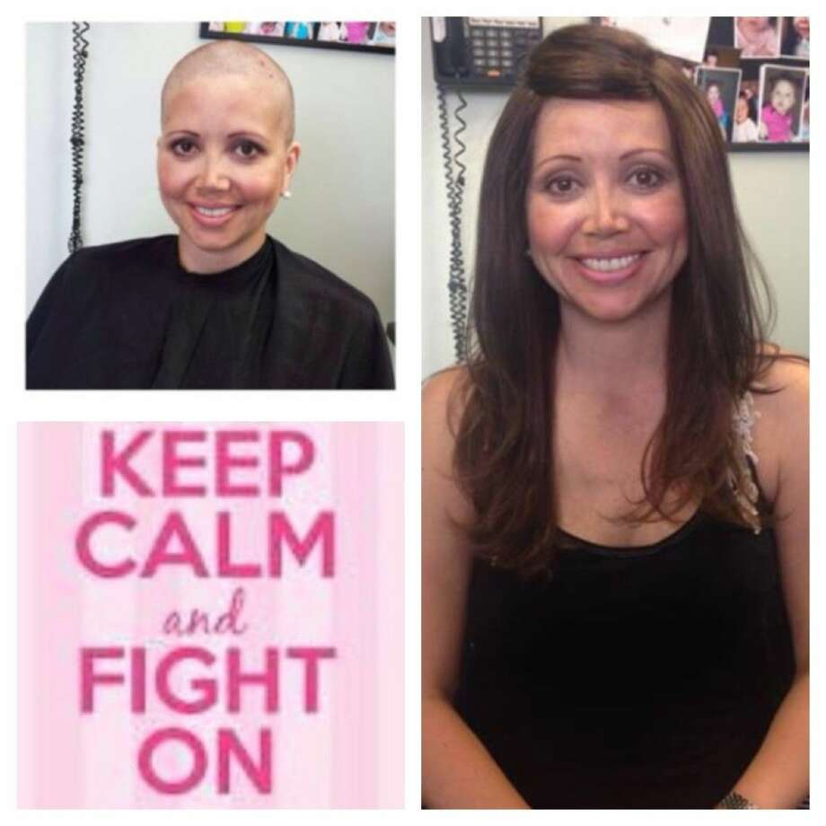 Thanks to Tom Magliaro, owner of TMHair, Jennifer Givens got a head of hair following chemotherapy treatments. Photo: Submitted Photo