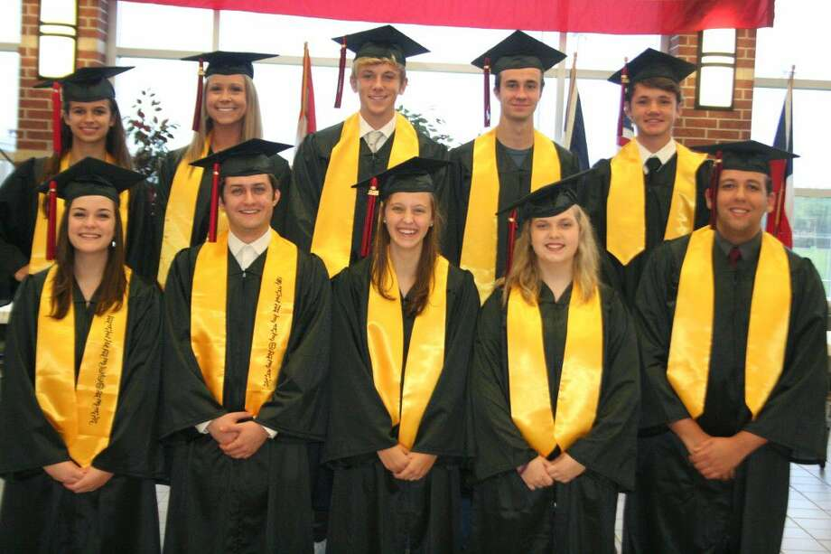 The top ten students for Hargrave High School had their first opportunity to try on their gowns last week.