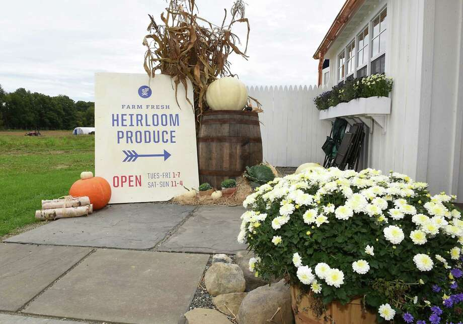 Sign outside of farm stand at Forts Ferry Farm on Friday, Sept. 30, 2016 in Colonie N.Y. (Lori Van Buren / Times Union) Photo: Lori Van Buren / 20037783A