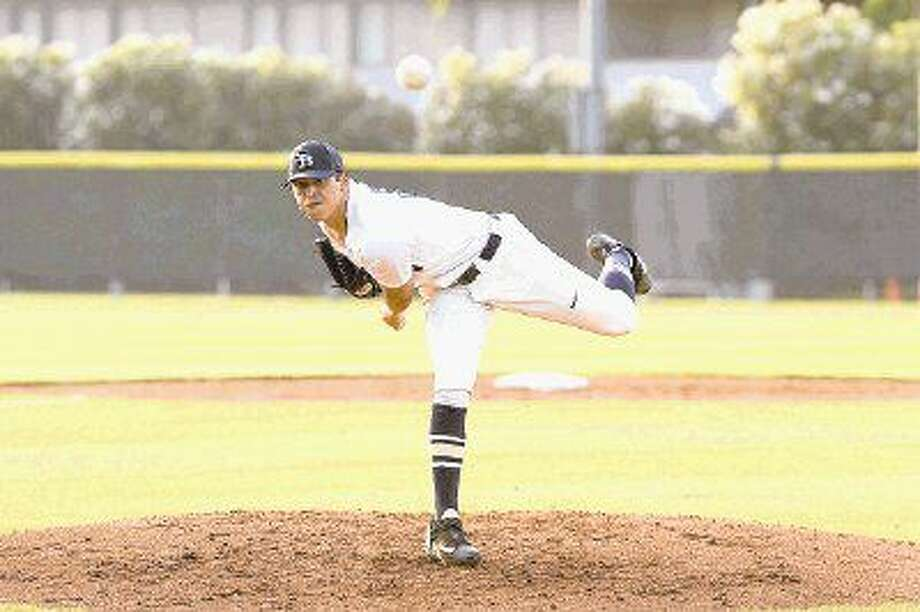 Second Baptist starting pitcher Jared Pettitte leads the Eagles to 2-1 win behind a seven strikeout performace over Austin Hyde Park, leading his team to the TAPPS 4A state final. Photo: Craig Moseley