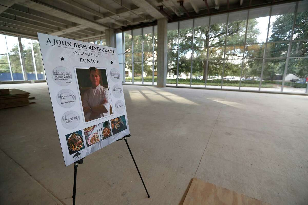 Chef John Besh's new restaurant called Eunice, that is slated to be in PMRG's new office tower at 3737 Buffalo Speedway, Wednesday, Oct. 5, 2016 in Houston.