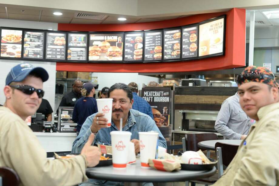 The opening of Pilot Flying J off the Pasadena Freeway will give industry employees like (from left) Charlie Koger, Frank Pina and Christian Lucio more options when they go for breakfast, lunch or dinner.