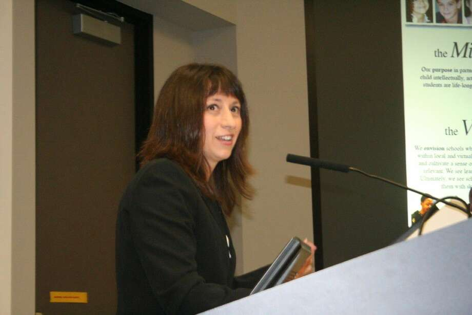 Dr. Elizabeth Fagen speaks at the Humble ISD meeting Tuesday, May 24, 2016.