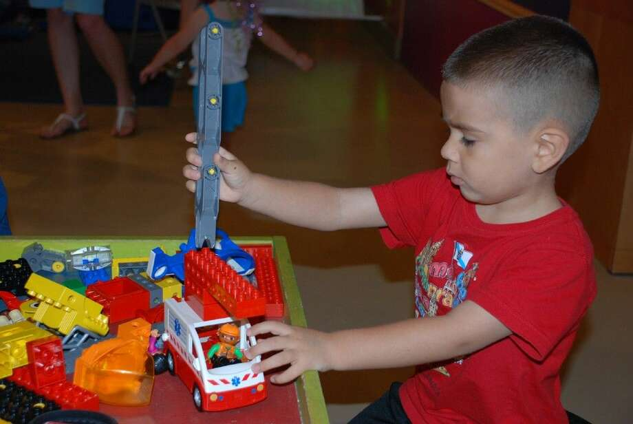 Children will learn to use their creativity, imagination and dexterity while having fun during the Lego Read and Build event at The Woodlands Children's Museum on Wednesday, Sept. 16. Photo: Courtesy Photo