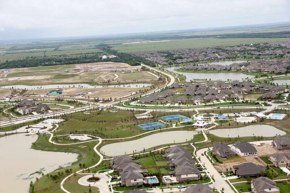 Aerial views of Bridgeland show that the master-planned community which sits on 11,400 acres in Cypress will take an estimated 25 more years to complete.