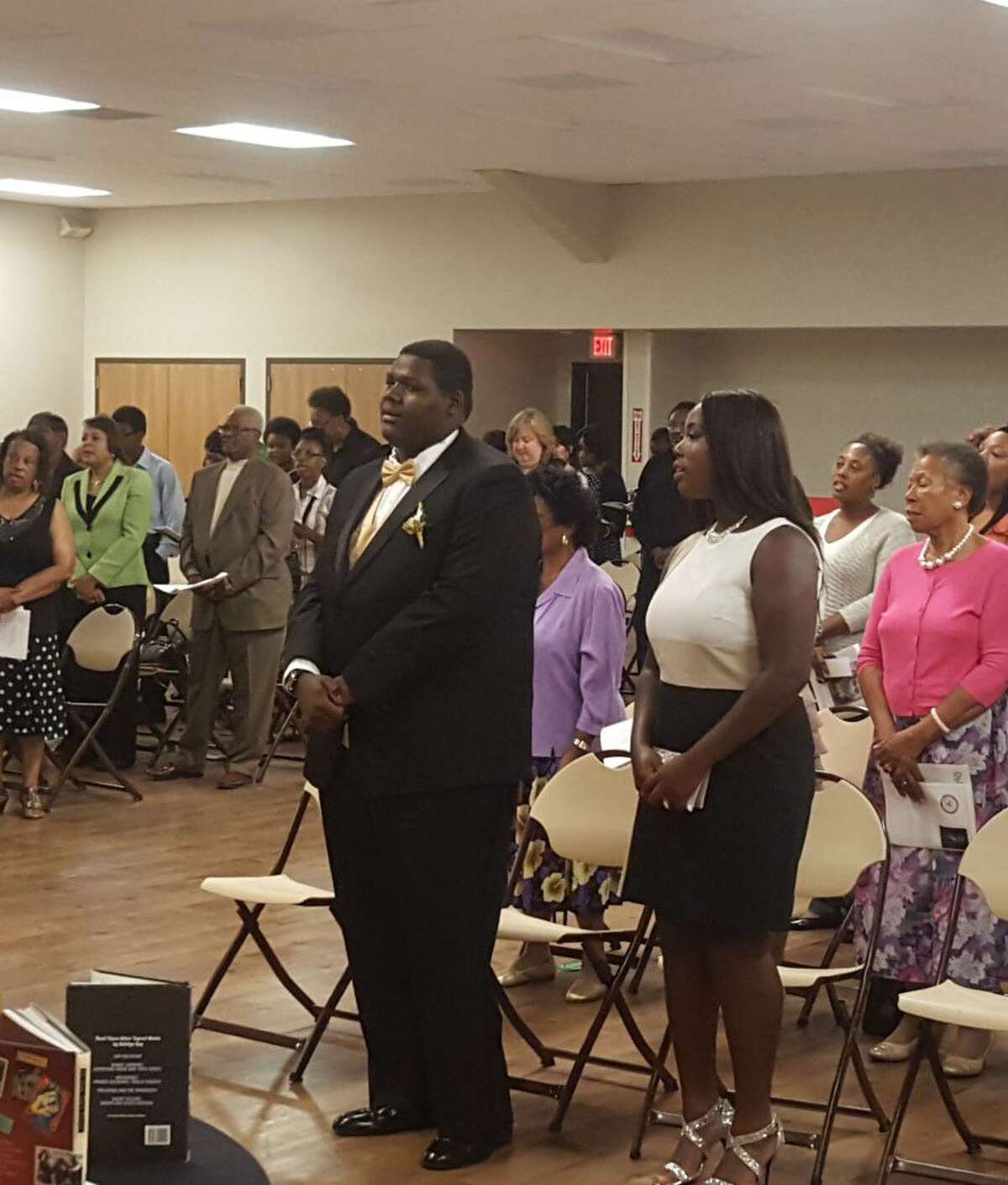 The Montgomery County NAACP scholarship recognition program awarded $1,000 each to Jeremy Wiltz and Elizabeth Akintunde, who are both students from Oak Ridge High School, on Saturday at the City of Conroe Activity Center.