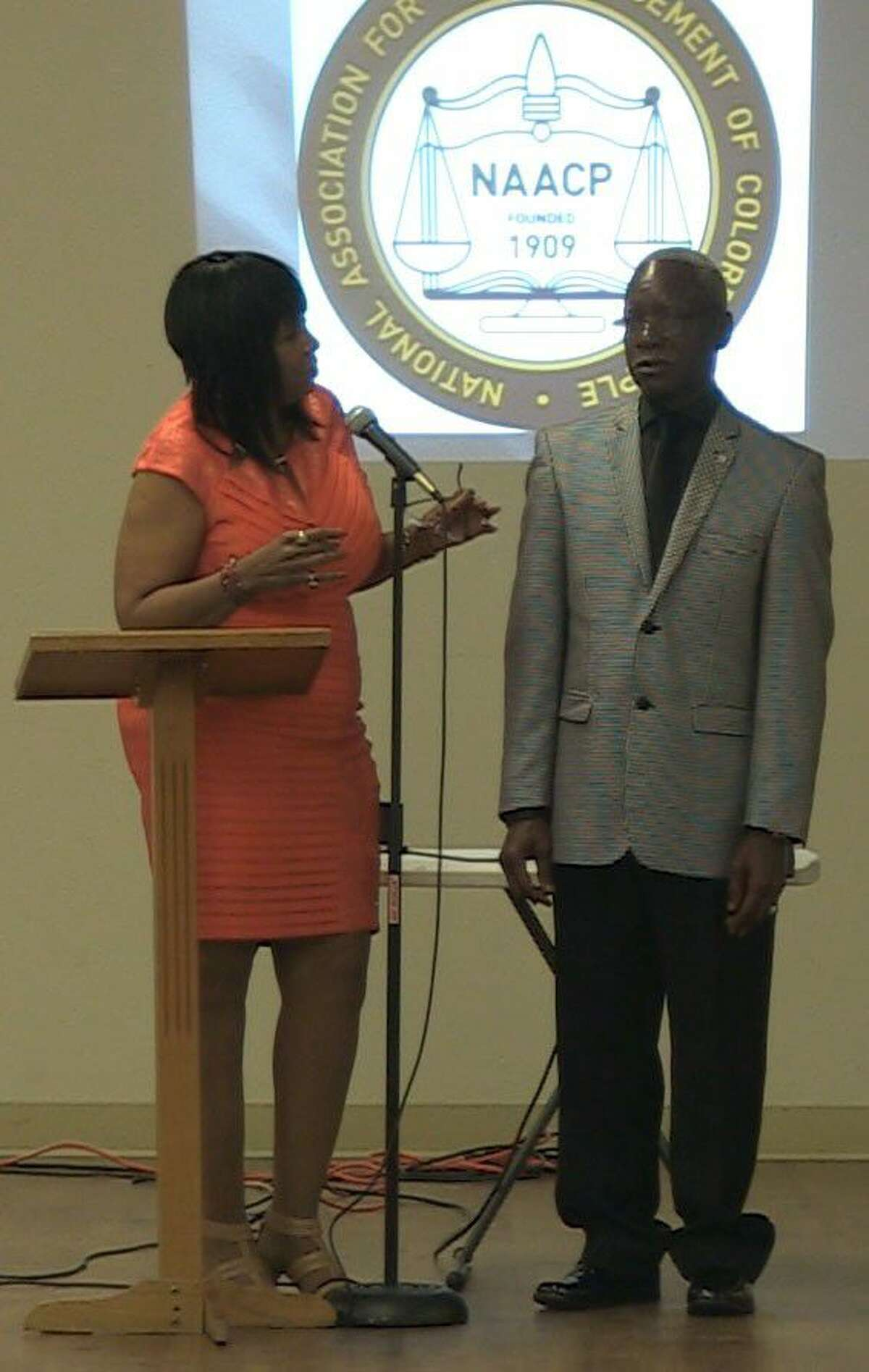 The NAACP also honored Johnny Jones of Tamina, whose portrait now hangs in the Smithsonian's National Portrait Gallery.
