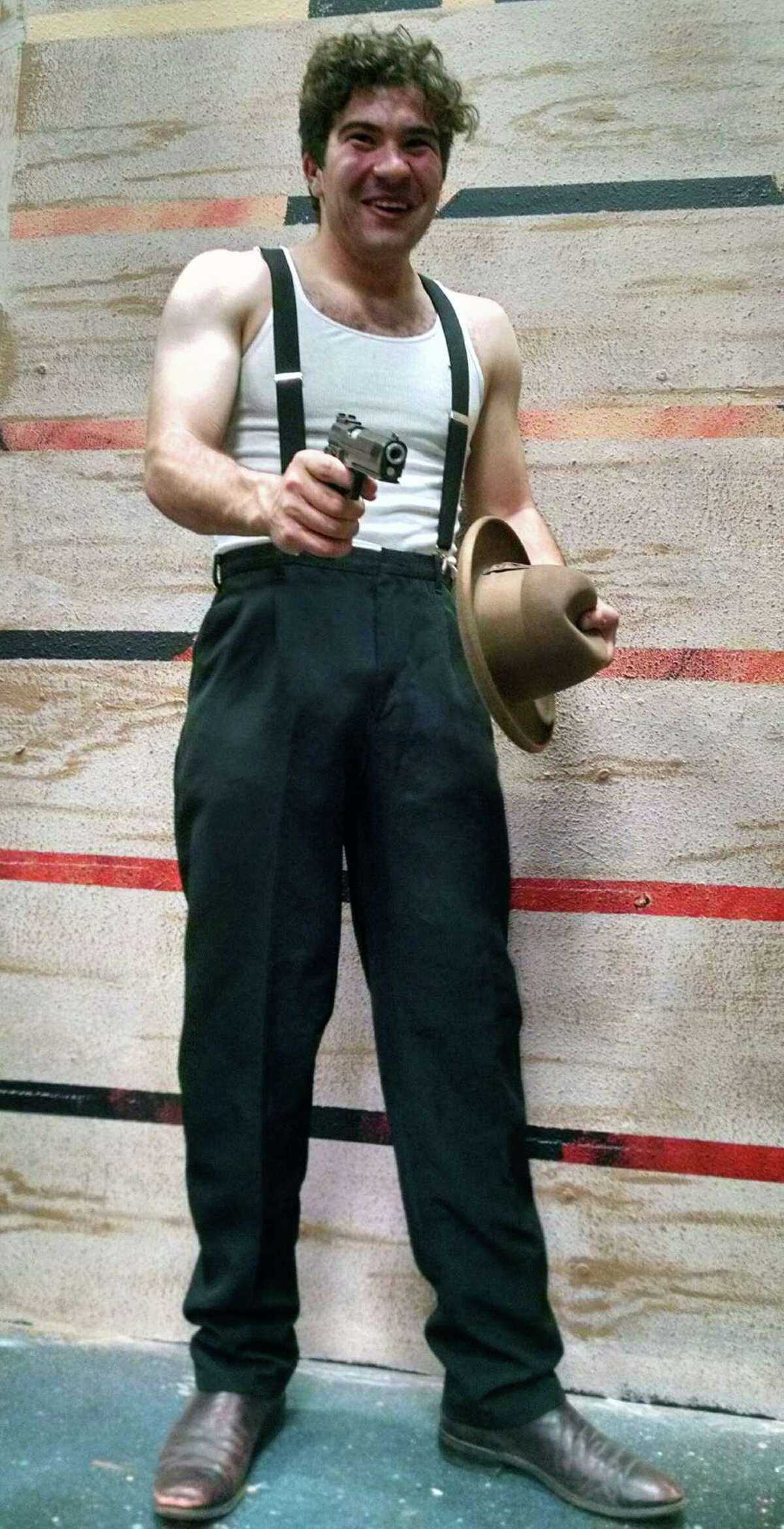 """Ramsey Marion Sweatmon plays Clyde Barrow in Performing Arts San Antonio's staging of """"Bonnie and Clyde."""""""