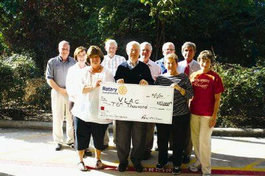 The Rotary Club of Humble recently presented a $10,000.00 check to The Village Learning Center.