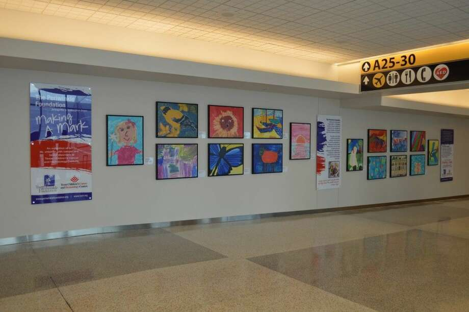The Periwinkle Foundation, in partnership with the Houston Airport System, recently unveiled a long-term Making A Mark art exhibition in Terminal A of George Bush Intercontinental Airport.