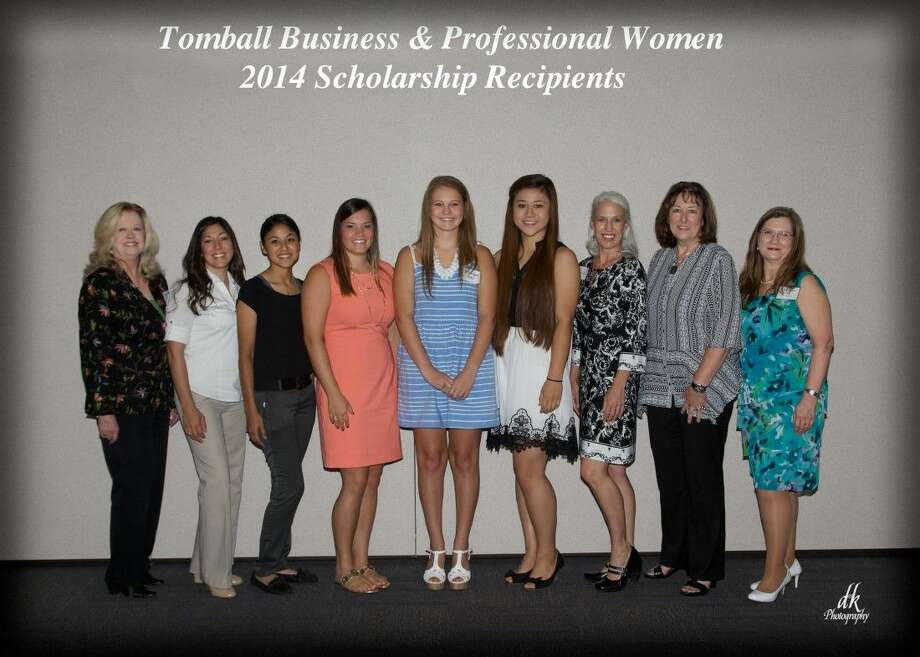 The 2014 TPBW scholarship recipients and members of TBPW. Pictured here from left are Ruth Hughes Deaton, Maria Espitia, Cristal Herrera, Hannah Malcomb, Ashlynne Boles, Katherine Lephuoc, Cecilia Kain, Cathy Kilgore and Gail Randolph.