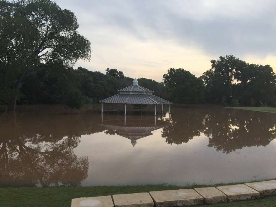 Shown here is Richmond's Wessondorff Park this past Monday morning. The Brazos River is continuing to rise in Richmond and the Rosenberg area, and Governor Greg Abbott has declared a disaster in 31 counties including Fort Bend with the Fort Bend EOC estimating a cresting of the river just below 55 feet.