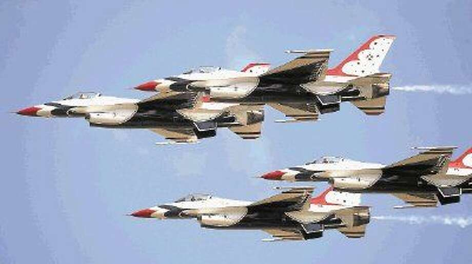 The U.S. Air Force Thunderbirds, shown here in a previous Wings Over Houston performance, are scheduled to return Photo: KAR B HLAVA