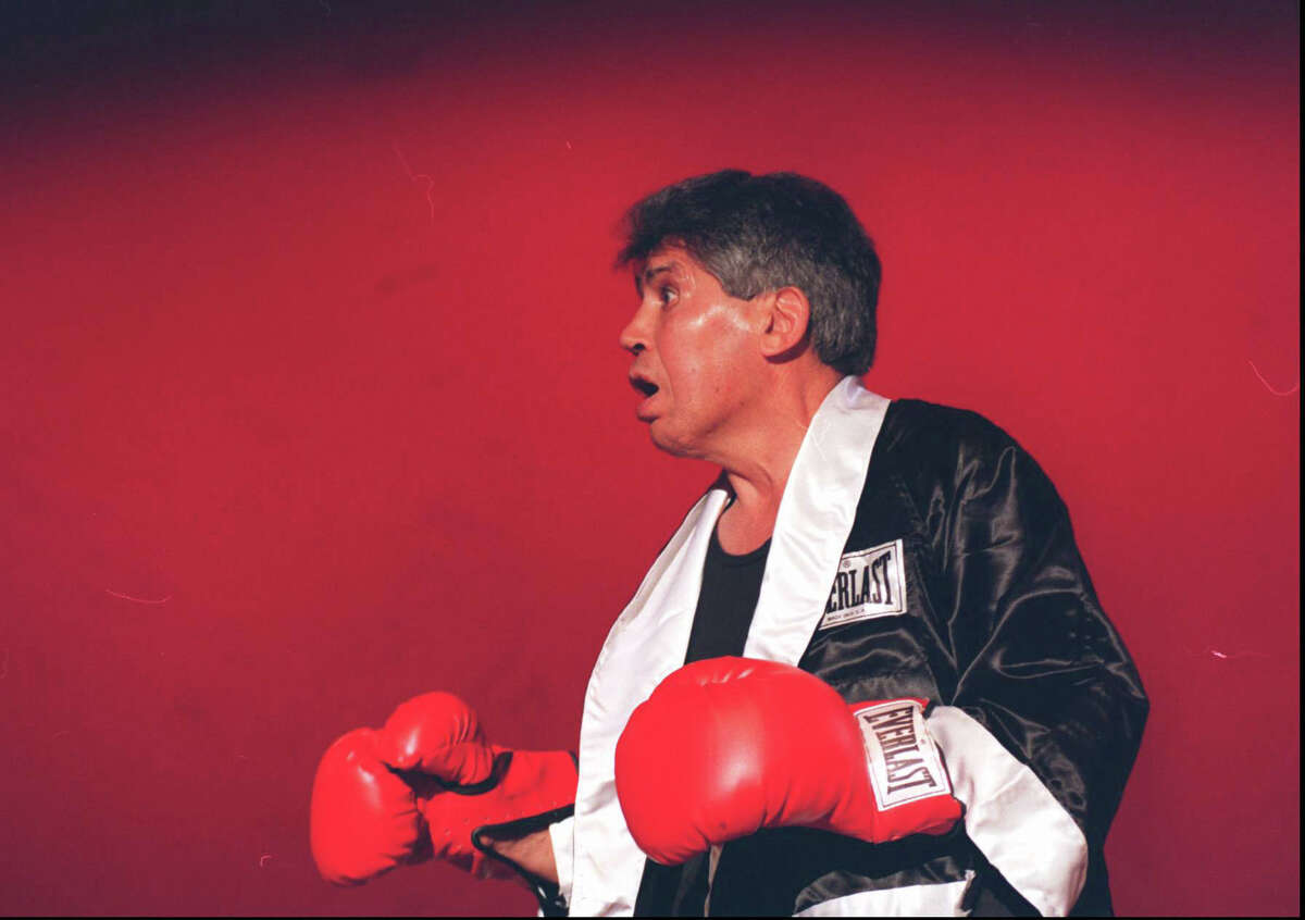 Stamford boxing great Chico Vejar tap danced and did a boxing routine during a 1996 dance recital at Rippowam Center.