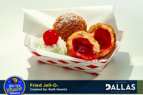 Fried Jell-O, the winner of the Best Taste award in the 2016 Big Tex Choice Awards at the Texas State Fair.