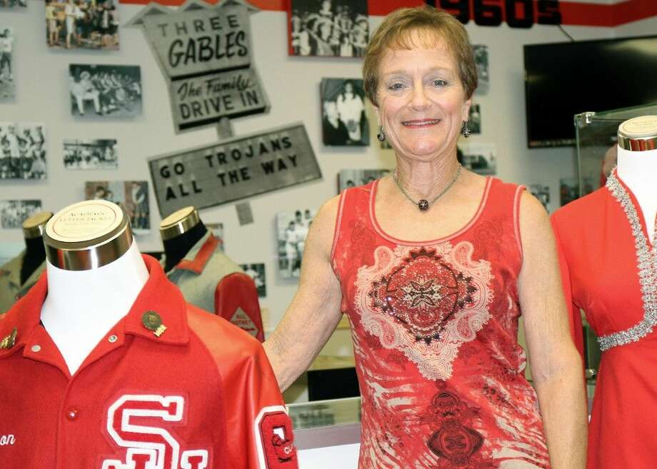 Jamie Hugo Ashby, Class of 1969 and the winner of the 2015 Ainsworth Alumni Spirit Award, visits the Hall of History.