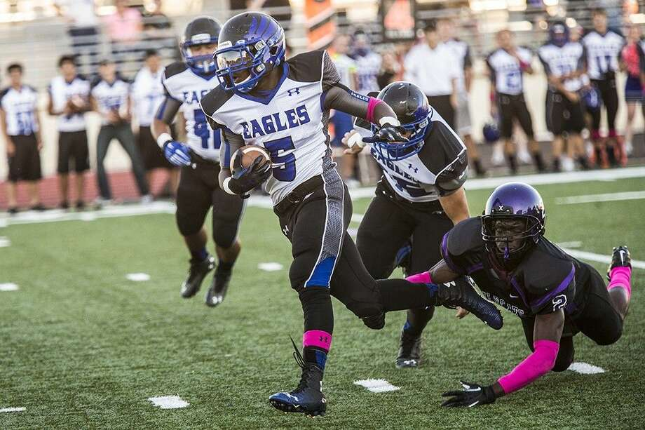 New Caney running back Marte Allison breaks away from the Humble defense for a touchdown.