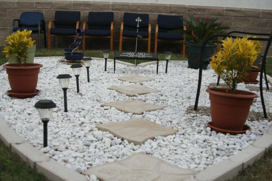 Symbolic of their dedication to the Harris County Sheriff's Office, the HCSO Citizens Police Academy Alumni Association created a heart-shaped garden outside of their Humble substation in honor of two fallen deputies.
