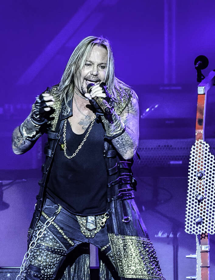 Vince Neil (pictured) lead singer for Mötley Crüe recently performed to a sold-out concert at The Cynthia Woods Mitchell Pavilion in The Woodlands, Texas. The Pavilion was ranked second in the world for the top 100 amphitheaters based on the number of ticket sales for the third quarter of 2014 according to Pollstar magazine. Photo: DERRICK BRYANT