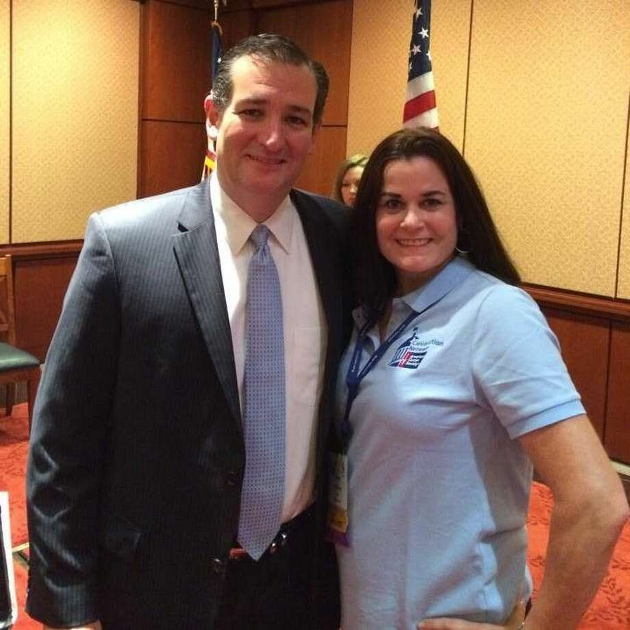 Katy resident and six-year leukemia survivor Anne Reardon with Senator Ted Cruz at ACA CAN's 2014 Lobby Day in Washington, D.C. Reardon has joined the fight urging lawmakers to set cancer funding as a high priority.