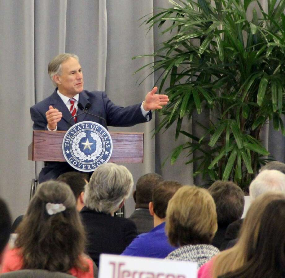 Governor Greg Abbott spoke before several hundred business and community leaders at the Brazoria County Transportation and Infrastructure Summit Wednesday (Sept. 23). Photo: Kristi Nix