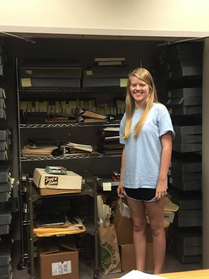 Jessica Shonbeck, 17, is a senior at St. Agnes Academy. She reorganized the Historical Archives at the Bellaire Public Library as her project for the Girl Scout Gold Award. The award is the highest honor archieved in Girl Scouting.