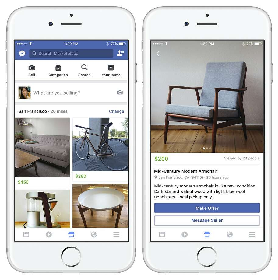 Facebook hopes that users of the mobile app feature will sell items like these. Photo: Associated Press