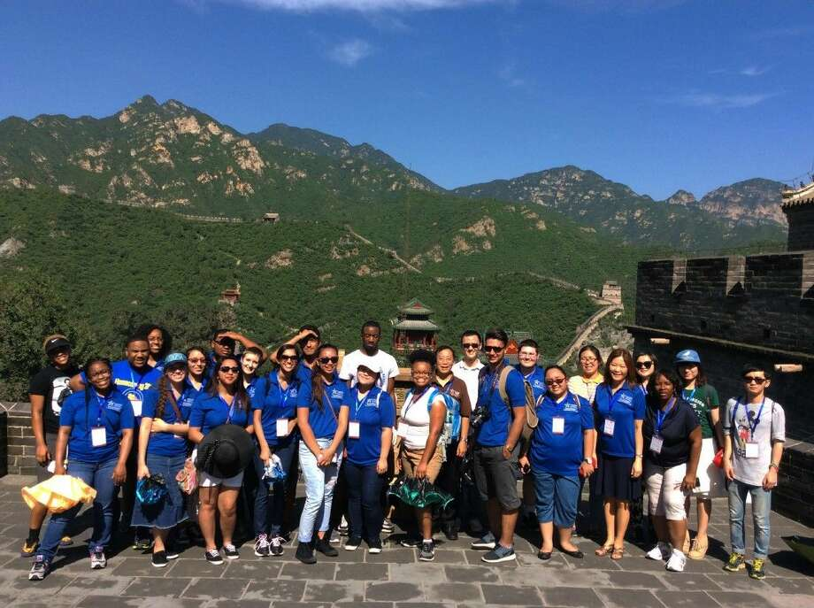 Pictured in front of China's Great Wall are a group of select honors students from Lone Star College-North Harris.These students were selected to participate in a two-week trip to China as part of the China-US Exchange Foundation. Photo: Submitted Photo