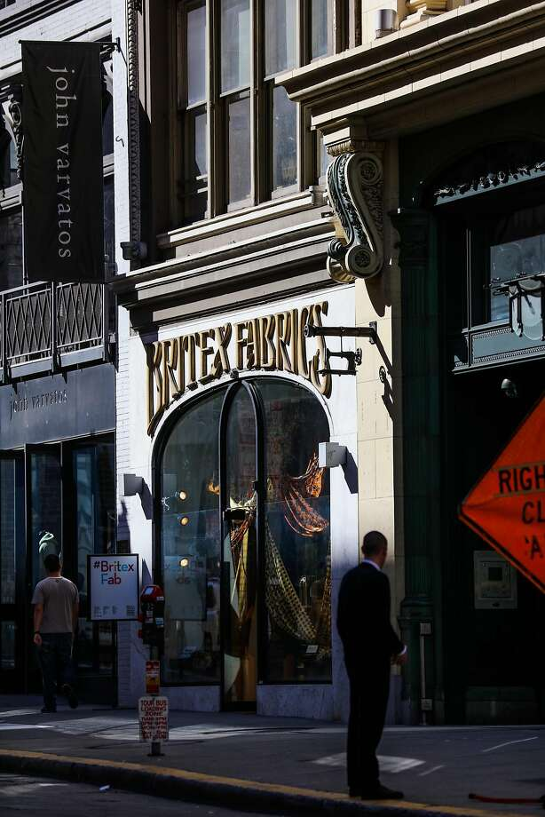 The Britex Fabrics store has occupied the space at 146 Geary St. in San Francisco for 64 years. Photo: Gabrielle Lurie, The Chronicle