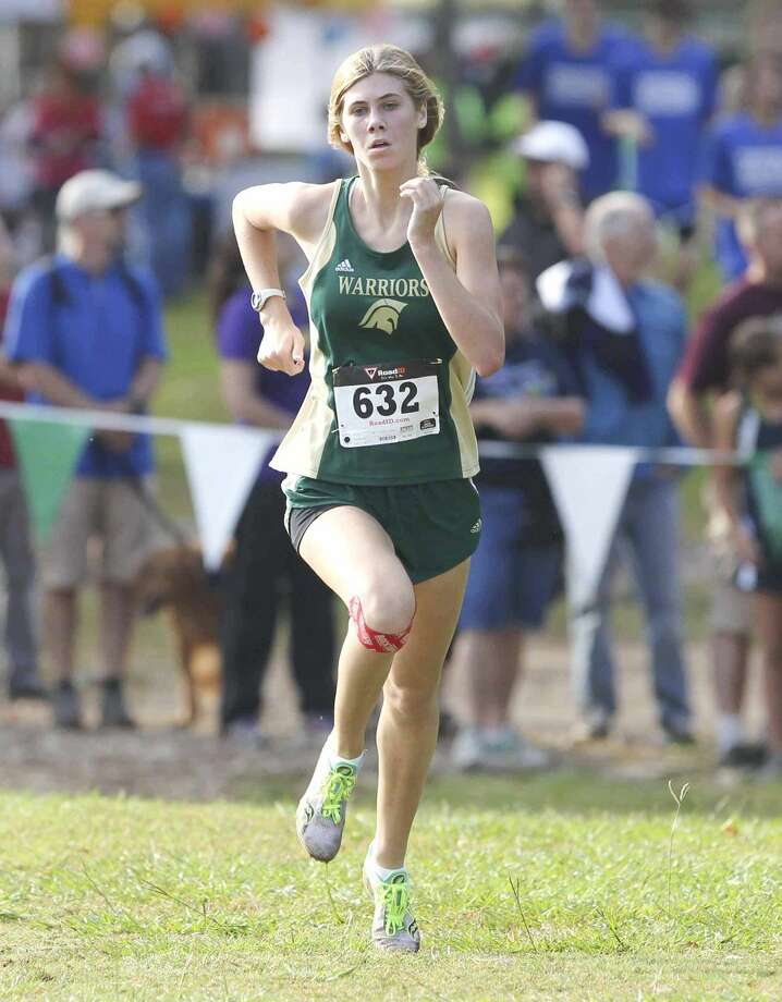 The Woodlands Christian Academy's Hannah Shearer finished seventh at the TAPPS Division II state championships on Saturday. To view or purchase this photo and others like it, visit HCNpics.com. Photo: Jason Fochtman