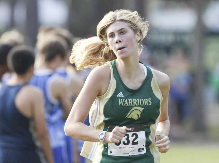 The Woodlands Christian Academy's Hannah Shearer finished seventh overall at the TAPPS Division III state championships on Saturday morning in Waco. Photo: Jason Fochtman