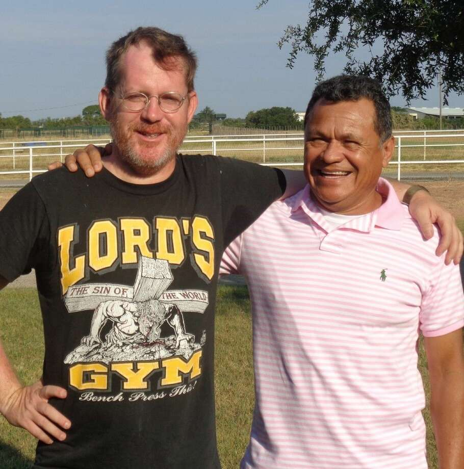 Local pastors Stephen Missick and Nelson Torres have been hard at work on the biblical epic, penned by Missick, as it films in an area outside of Dallas. Photo: Submitted