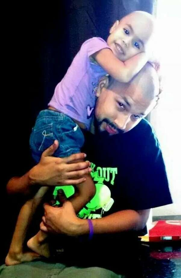 Shown here is 3-year-old Ava Garcia and her father Eric. She was diagnosed with stage 2 Wilms tumor in August of this year. Her family will host a fundraiser on Saturday, Oct. 25 in Magnolia.
