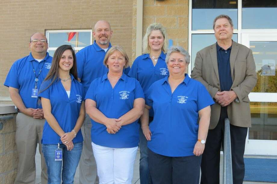 Shepherd ISD's group of principals includes (front row) Brooke Rhoden, Assistant Principal Primary Campus; Tammy Jordan, Assistant Principal Intermediate Campus; Brenda Cronin, Principal Middle School Campus; (back row) Mark Silva, Principal Intermediate Campus; David Bell, Assistant Principal Middle School Campus; Rebecca Smith, Principal Primary Campus; and Jimmy Meekins, Principal High School Campus. Not pictured is Amanda Stayton, Assistant Principal High School. Photo: Submitted