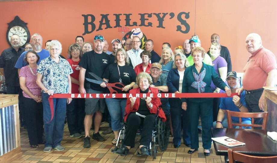 A ribbon-cutting was held on the morning of Oct. 17 to welcome local establishment Bailey's Barbeque to the Greater Cleveland Chamber of Commerce. Photo: Stephanie Buckner