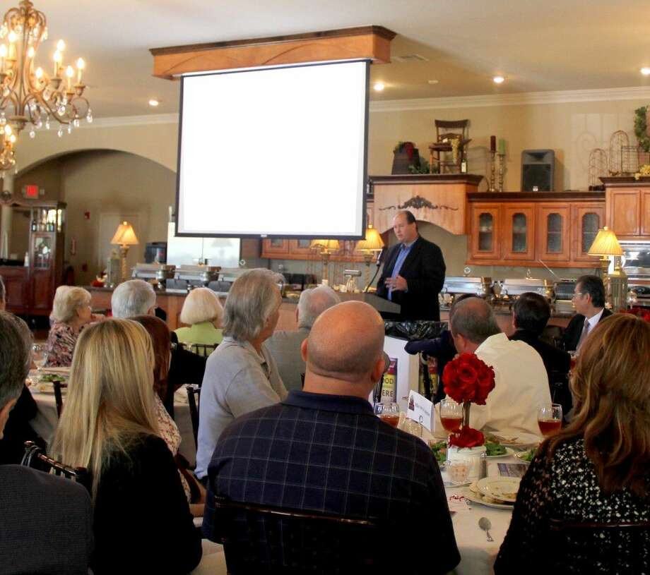 Pasadena Independent School District Todd Monette, Plant Manager for LyondellBasell served as guest speakers at the Pasadena Chamber of Commerce Monthly Membership Luncheon. Photo: Kristi Nix/The Citizen