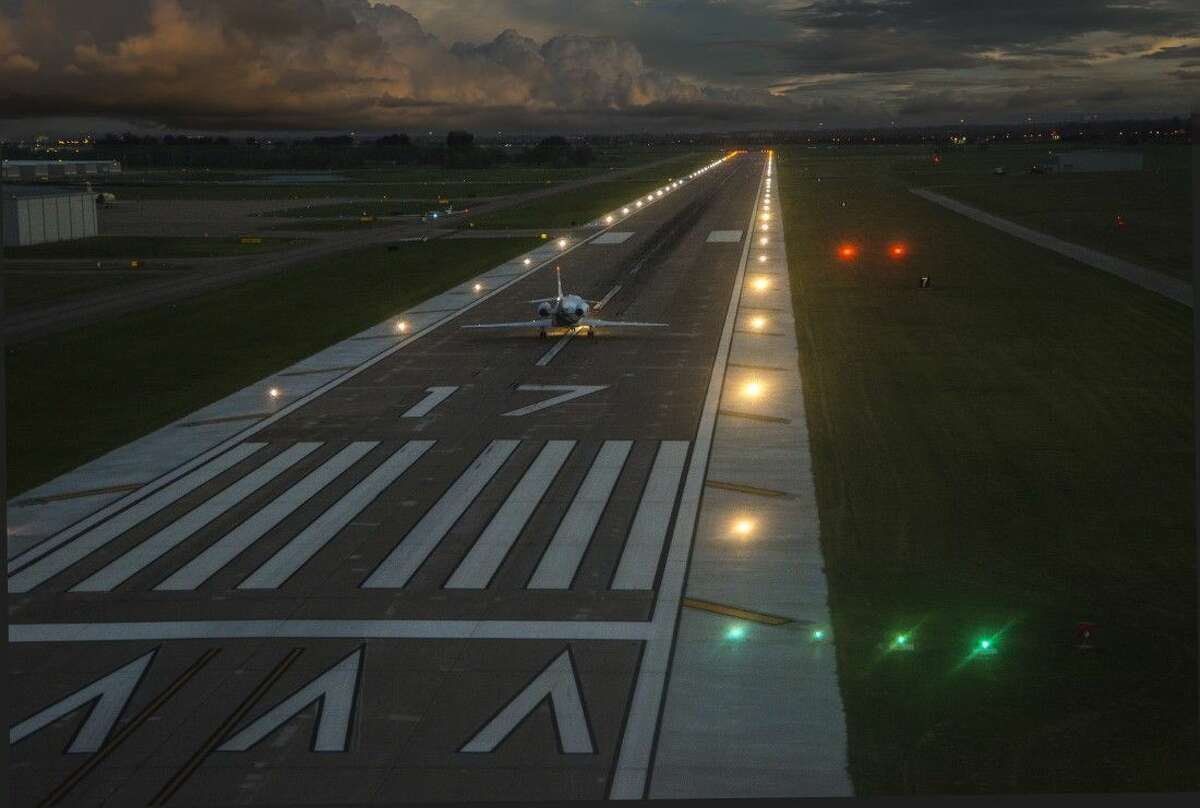 A major part of the ongoing aiport construction includes the installation of an approach lighting system that will make it easier for pilots landing at night.