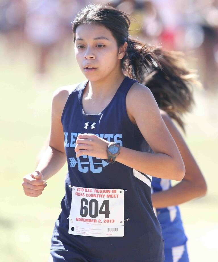 Valencia Vara and Clements finished second at the District 23-6A cross country meet Oct. 17 at Kitty Hollow Park. The Lady Rangers advance to the Region III meet. Photo: Jason Fochtman
