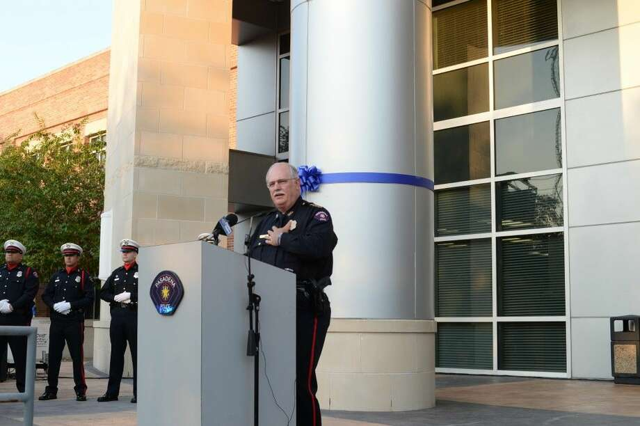 Pasadena Police Chief Michael Thaler spoke at the city's Pray for Police and First Responders event last Thursday.
