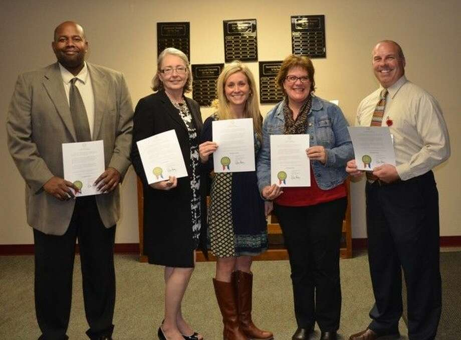 "Splendora Independent School District Principals were recognized during ""Principals Month"" which is October."