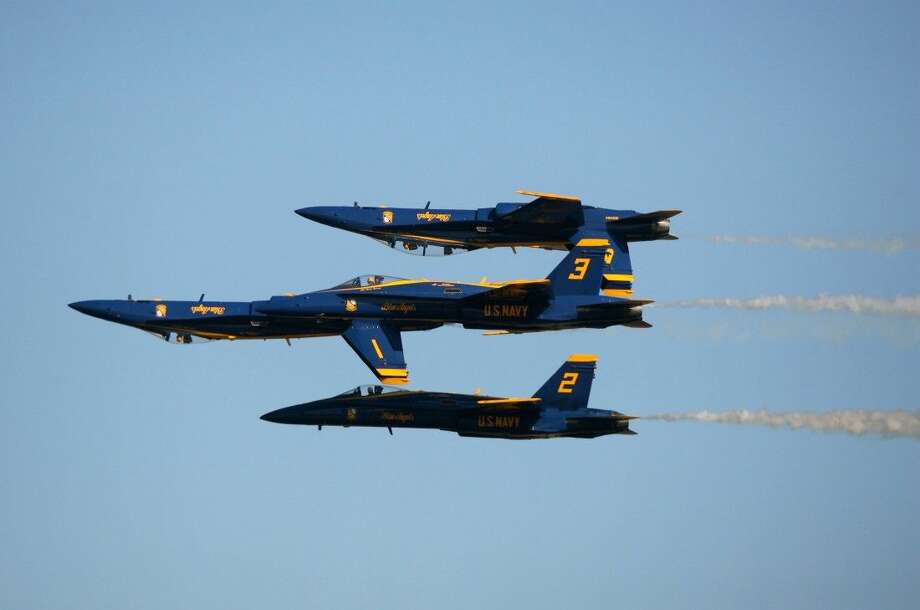 The Blue Angels performed at the 2012 Wings Over Houston Airshow and will make another appearance for the air show this year on November 1-2, 2014. Photo: Kar B Hlava