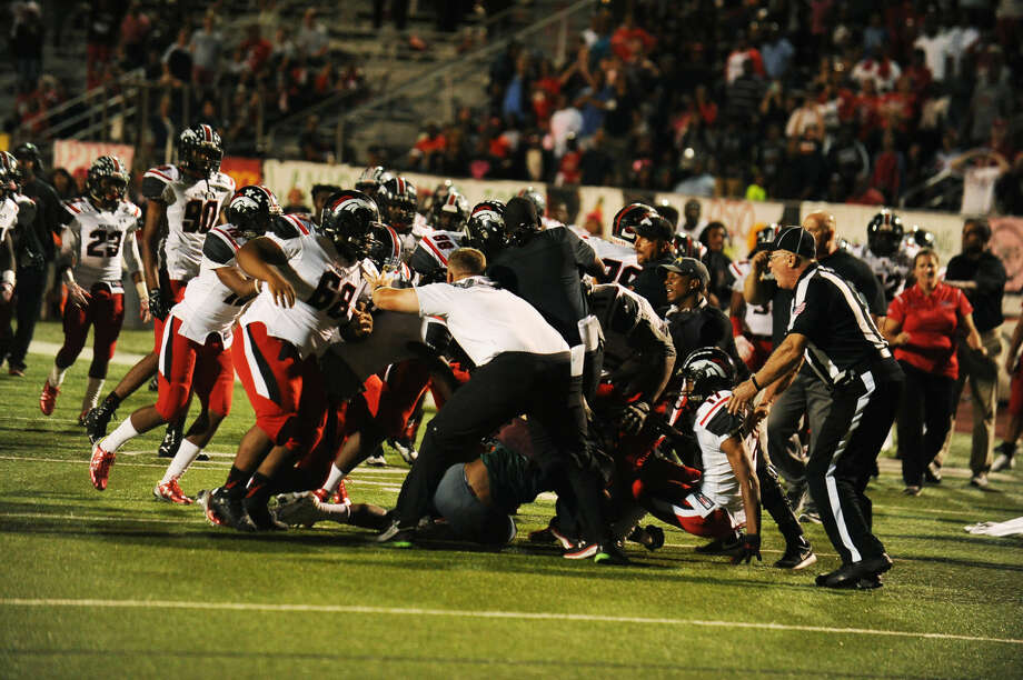 Spring and Westfield had their game shortened after it was decided the game was out of control following a bench-clearing brawl Oct. 2 at Leonard George Stadium. Photo: Staff Photo By Tony Gaines
