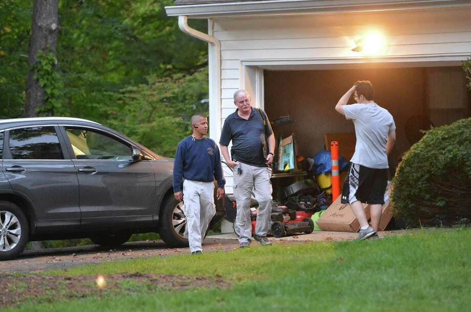 Authorities investigate the death of a 4-month-old at a home day care facility on Hunters Lane on Wednesday, Oct. 5 in Norwalk. Photo: Alex Von Kleydorff / Hearst Connecticut Media / Connecticut Post