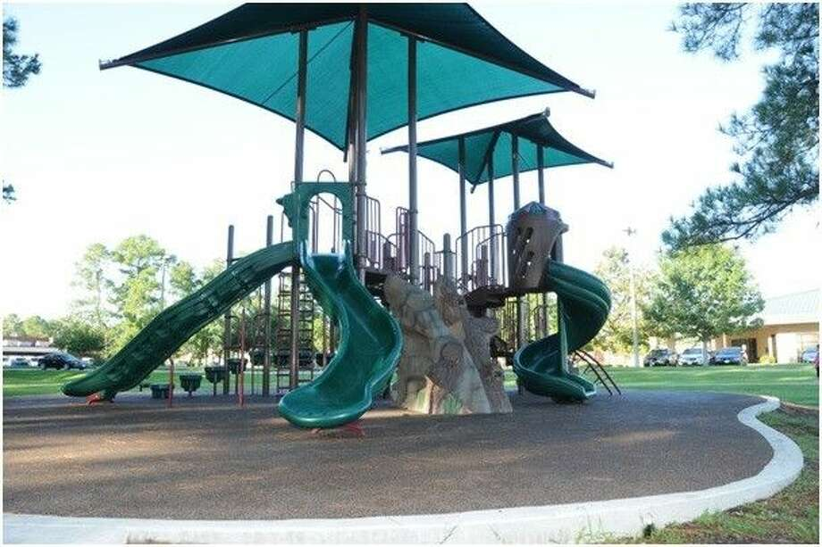 Crosby Park's newest playground set.