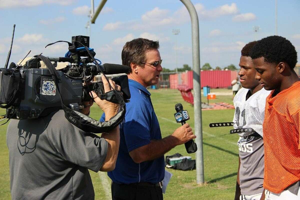 ABC 13 sports reporter Bob Slovak interviews Ch. 13 High School Highlights Players of the Week.